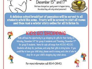 Frosty Breakfast and Kids Go Shopping - A little different this year!