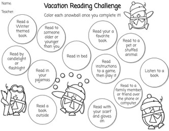 Vacation Reading Challenge