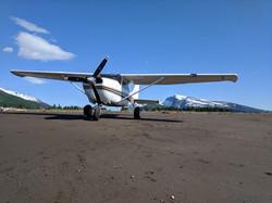 Cessna 206 on the Beach