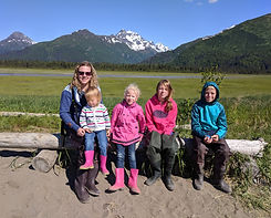 Family at Chenitna Bay, Lake Clark National Park