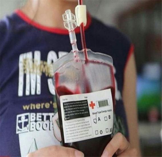 Bolsa de transfusión para halloween