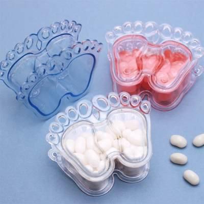 Dulcero plástico en forma de piecitos