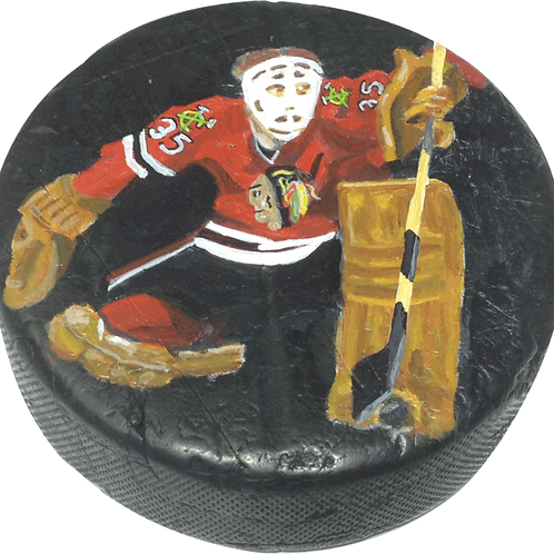Tony Esposito Puck (Original Hand-Painting)