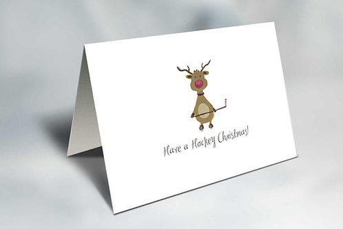Rudy the Red-Nosed Winger Christmas Card