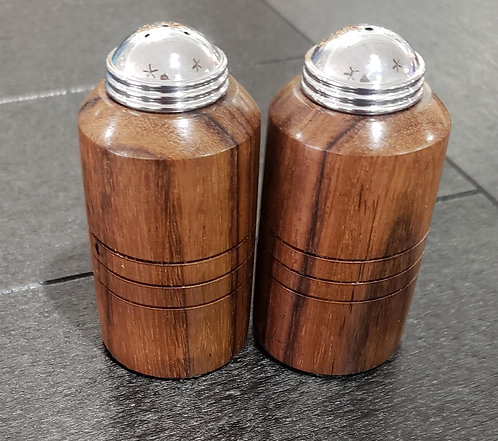 East Indian Rosewood Salt and Pepper Shakers