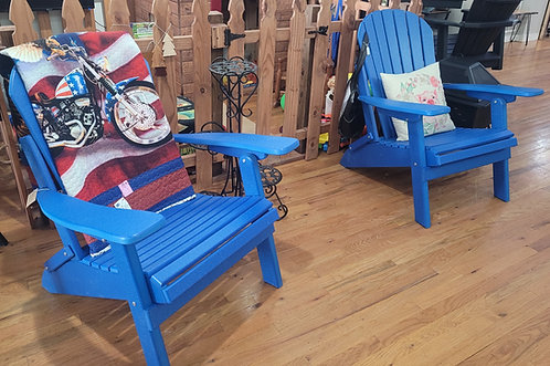 Patriot Blue Adirondack Chairs