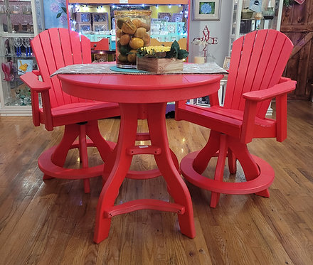 Bright Red Counter Height Table