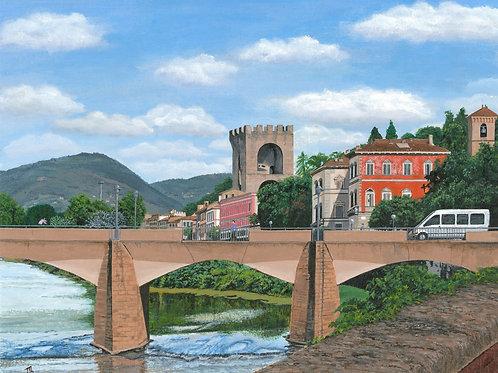 Bridge over River Arno Blank Note Card
