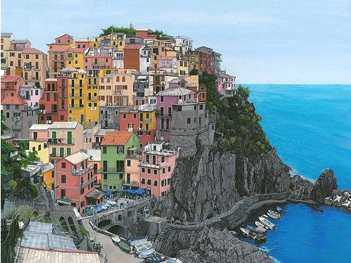 """""""Manarola, Italy"""" Blank Note Card"""
