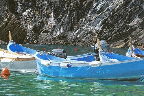 """""""Boats of Vernazza II"""" Giclee Print"""