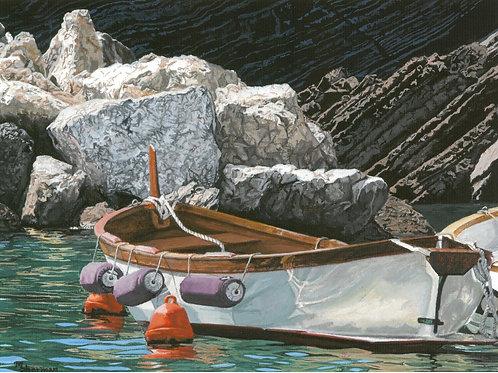 """Boats of Vernazza I"" Giclee Print"