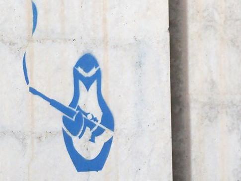 War Penguin Stencil