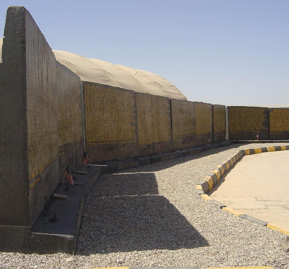 Camp Warrior Kirkuk Memorial Display