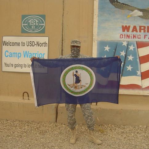 Camp Warrior- Virginia Flag