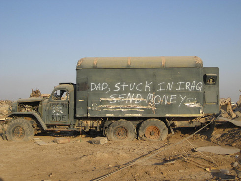 Dad, Stuck in Iraq- Send Money!