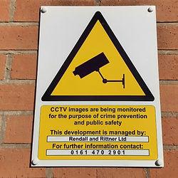 Wall mounted CCTC signage