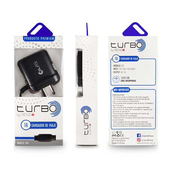 CARGADOR TURBO 1A SEND +  MICRO USB