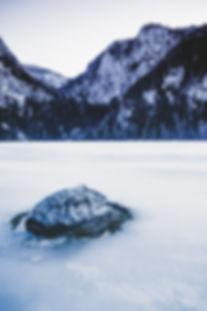 Totes Gebirge, Winter, Gleinkersee, Eis, Sonne