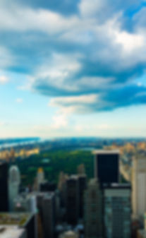 New York, City, Central Park, Park lane, Clouds, water, lake, hudson river, view from the top