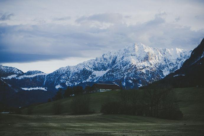 Totes Gebirge, Winter, Pießling Ursprung, Wasserfall