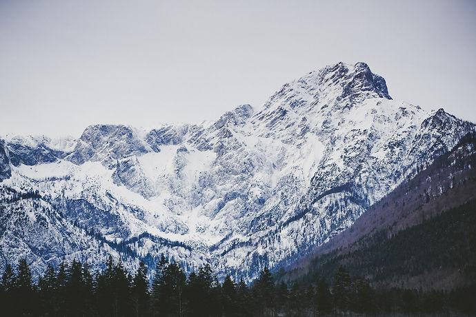 Totes Gebirge, Almsee, Grünau, Morgen, Winter