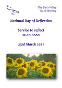 Page 1 from National Day of Reflection S