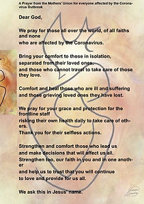 Morthers Union prayer for all those affe