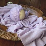 Girlologie_Lilac Knit Wrap & Bonnet Set