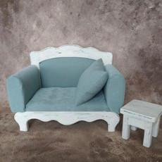 ZayaProps_Mint Newborn Couch & Table