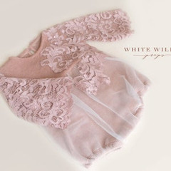 WhiteWillowProps_Light Muave Lace Romper