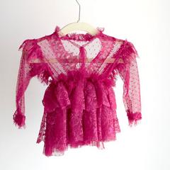 Bibs & Bows_Sara Dress in Fuschia (12 mos)