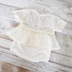 LovelyBabyPhotoProps_White Lace Top & Di