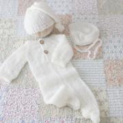 BlueNoteSky_White Fuzzy Romper Set
