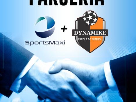 Parceria fechada entre SportsMaxi e Dynamike