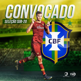 Felipe Estrella é convocado para a seleção brasileira Sub-20