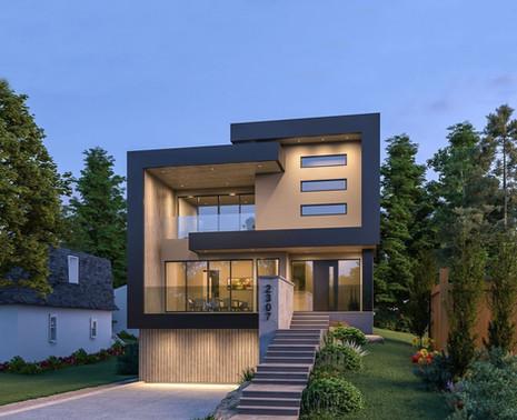 Private Residence || Mount Royal  ||  Modern Custom Home Design