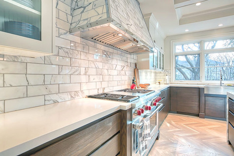 Calgary luxury home design white kitchen