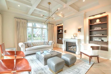 Mount Royal luxury home design living ro