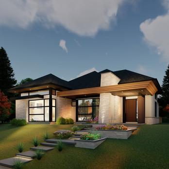 Calgary Luxury New Home Design Bungalow.