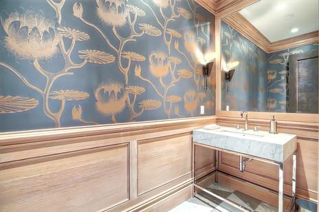 Calgary modern home design powder room