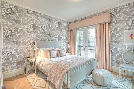 Calgary home design teen bedroom wallpap