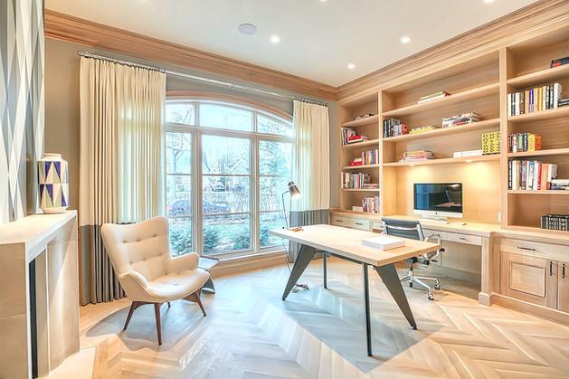 Calgary luxury home design stylish offic