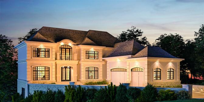 Calgary traditional new luxury home desi