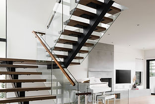 custom home design architectural stairs