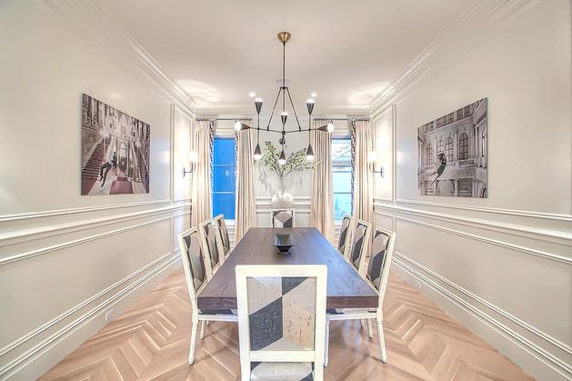 Modern stylish dining room design