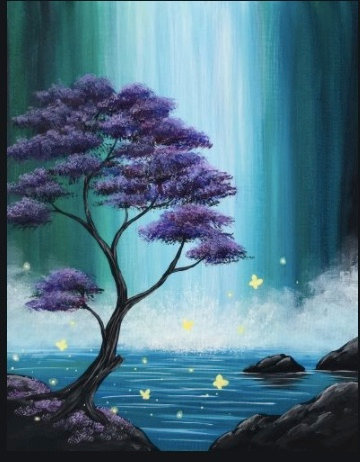 5 spots left!! Paint and Sip Class of Saturday, September 19th  at 6:30PM