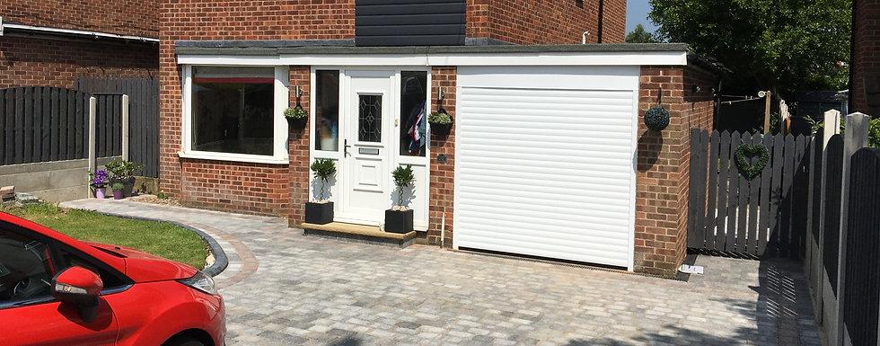 Compact Roller Garage Door in White