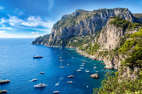 Capri island in a beautiful summer day i