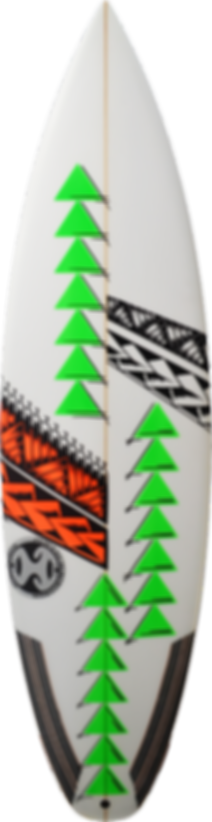 custom shapped surfboard