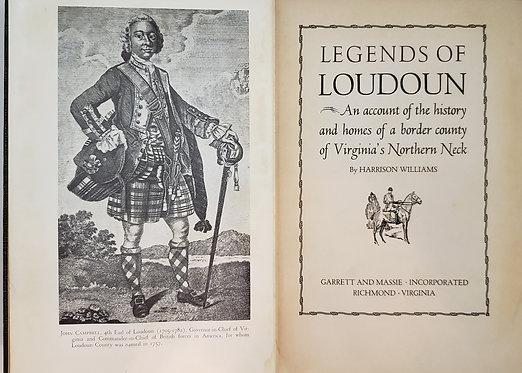 Legends of Loudoun by Harrison Williams
